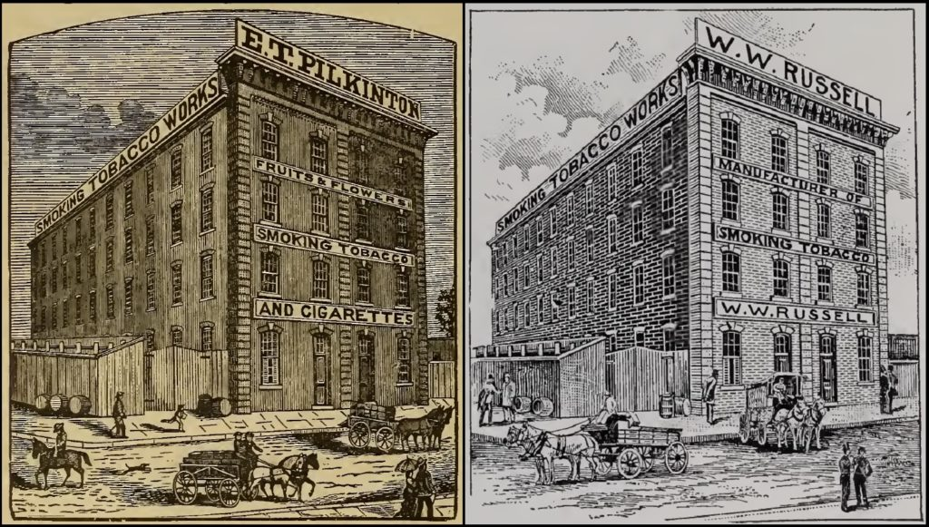 [IOR] [RVCJ93] — side-by-side comparison of the 1886 (left) and 1893 (right) depictions of 514 North Twelfth Street