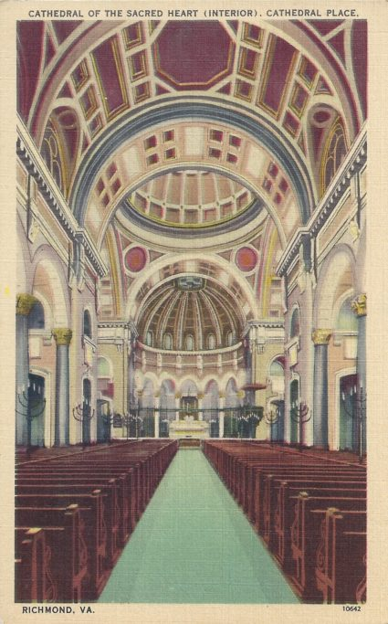 (Rocket Werks RVA Postcards) — Cathedral of the Sacred Heart, interior